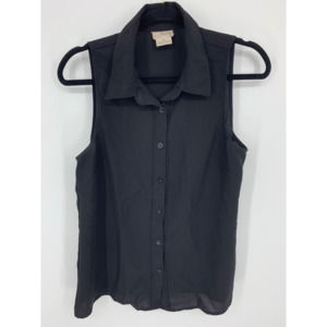 Coincidence & Chance M black sheer button tank